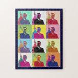 Arte pop de presidente Obama Rompecabeza