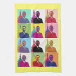 Arte pop de presidente Obama Toallas