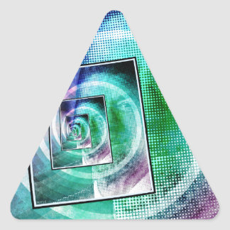 Arte pop de presidente Ronald Reagan Calcomania Triangulo Personalizadas
