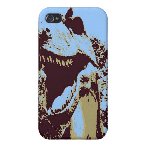 Arte pop de Rex del Tyrannosaurus iPhone 4 Carcasa