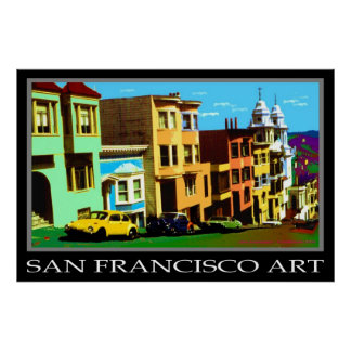 Arte pop de San Francisco 69 - poster del viaje