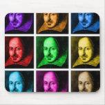 Arte pop de Shakespeare Alfombrilla De Ratón
