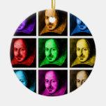 Arte pop de Shakespeare Ornamento Para Arbol De Navidad