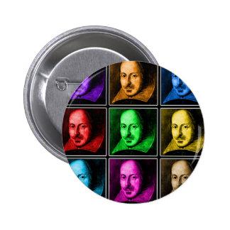 Arte pop de Shakespeare Pin Redondo De 2 Pulgadas