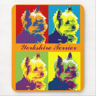 Arte pop de Yorksire Terrier Alfombrillas De Raton