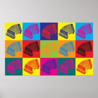 Arte pop del acordeón poster