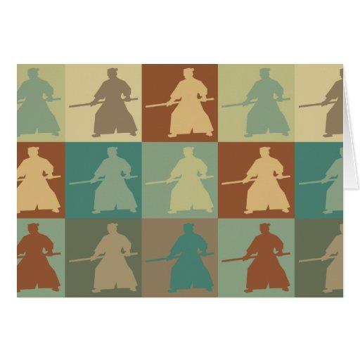 Arte pop del Aikido Tarjeton