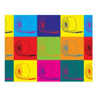 Arte pop del aislamiento tarjeta postal