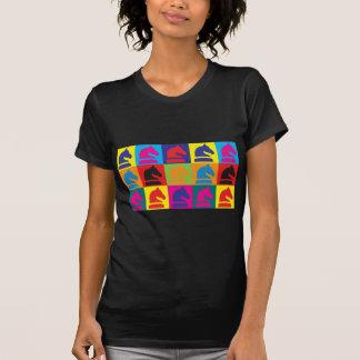 Arte pop del ajedrez camisetas