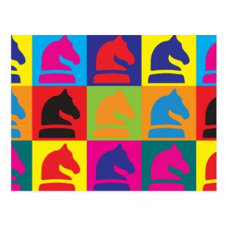 Arte pop del ajedrez tarjetas postales