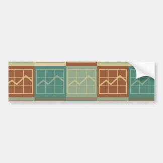 Arte pop del análisis del presupuesto etiqueta de parachoque