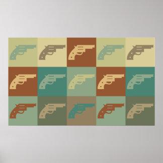 Arte pop del arma póster