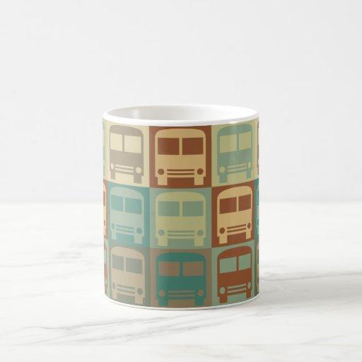 Arte pop del autobús taza básica blanca