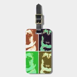 Arte pop del barro amasado etiqueta de equipaje