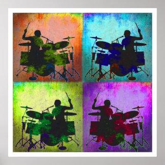 Arte pop del batería, Copyright Karen J Williams Poster