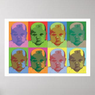 Arte pop del bebé poster