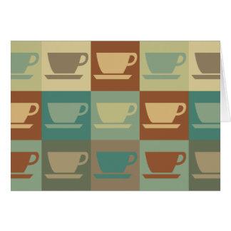 Arte pop del café tarjetas