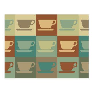 Arte pop del café postal