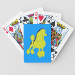 Arte pop del caniche cartas de juego