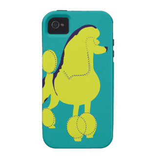 Arte pop del caniche Case-Mate iPhone 4 fundas