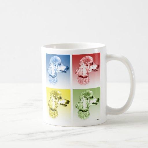 Arte pop del caniche taza