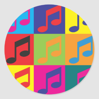 Arte pop del canto etiquetas redondas