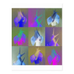 Arte pop del caracol postales