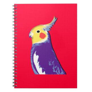 Arte pop del Cockatiel Spiral Notebooks