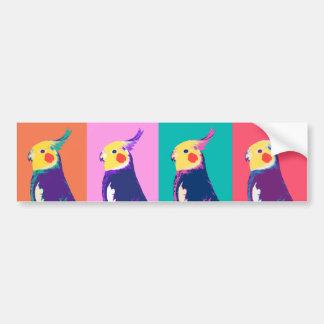 Arte pop del Cockatiel Pegatina Para Auto