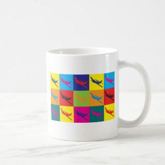 Arte pop del control de radio tazas de café