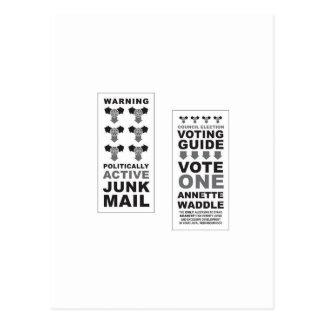 Arte pop del correo basura tarjeta postal