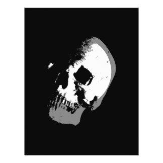 """Arte pop del cráneo de BW Folleto 8.5"""" X 11"""""""