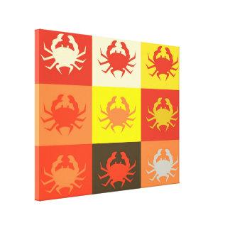 Arte pop del diseño gráfico con los cangrejos 5 lona estirada galerias