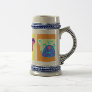 Arte pop del dogo jarra de cerveza
