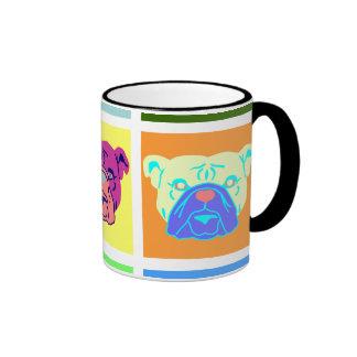 Arte pop del dogo taza de dos colores