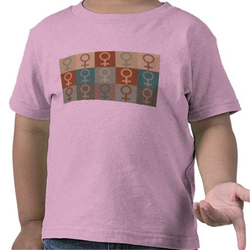 Arte pop del feminismo camiseta