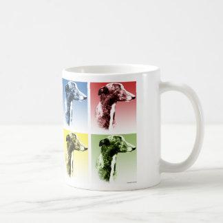Arte pop del galgo taza de café