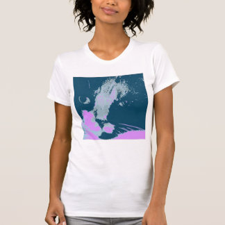 Arte pop del gato de calicó camisetas