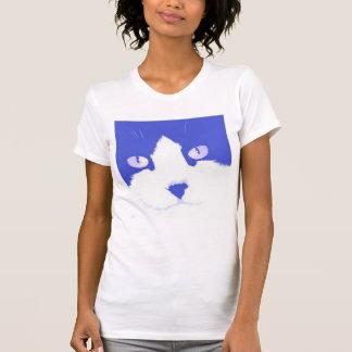 Arte pop del gato camisetas