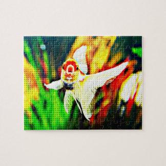 Arte pop del Goldfish de Oranda colorido Puzzle