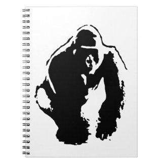 Arte pop del gorila libretas espirales