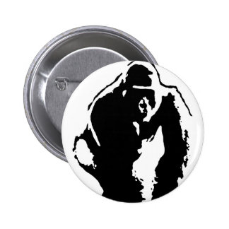 Arte pop del gorila pin redondo de 2 pulgadas