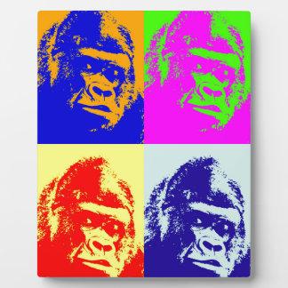 Arte pop del gorila placas de madera