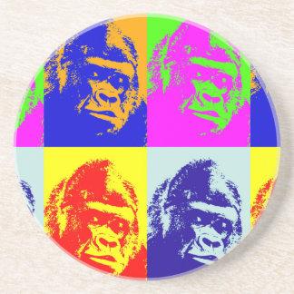 Arte pop del gorila posavasos manualidades