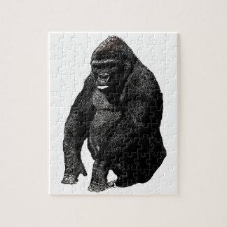 Arte pop del gorila puzzle