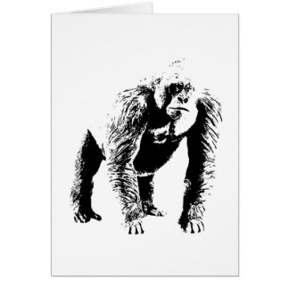 Arte pop del gorila felicitacion