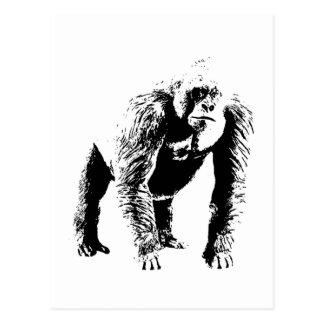 Arte pop del gorila tarjeta postal
