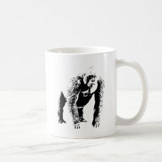 Arte pop del gorila taza