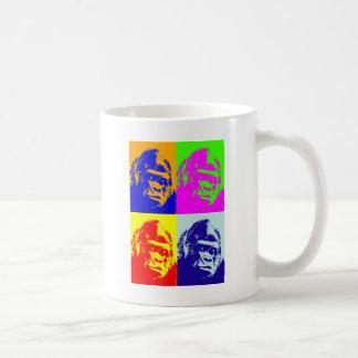 Arte pop del gorila taza de café