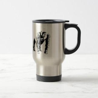 Arte pop del gorila taza de viaje